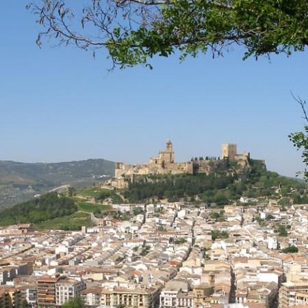 Vista de Alcalá la Real, Fortaleza de la Mota