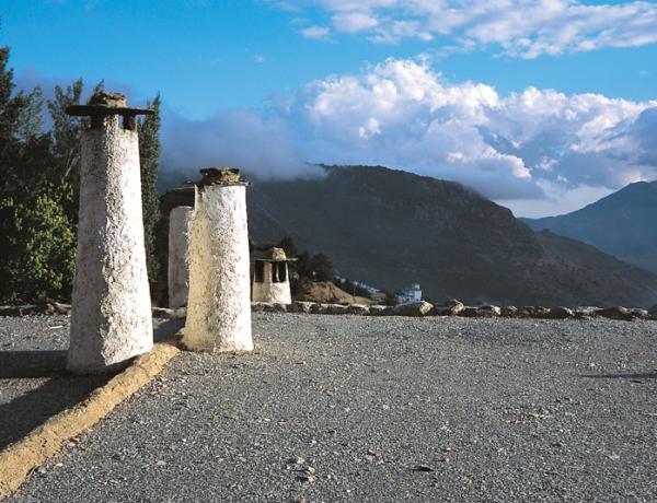 Típicas chimeneas en la Alpujarra