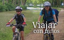 Viajar con niños en bicicleta