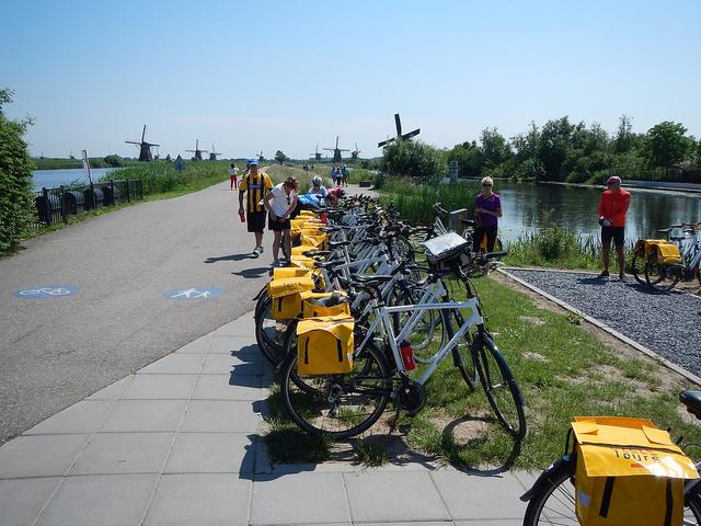 Brujas-Amsterdam en barco-bici