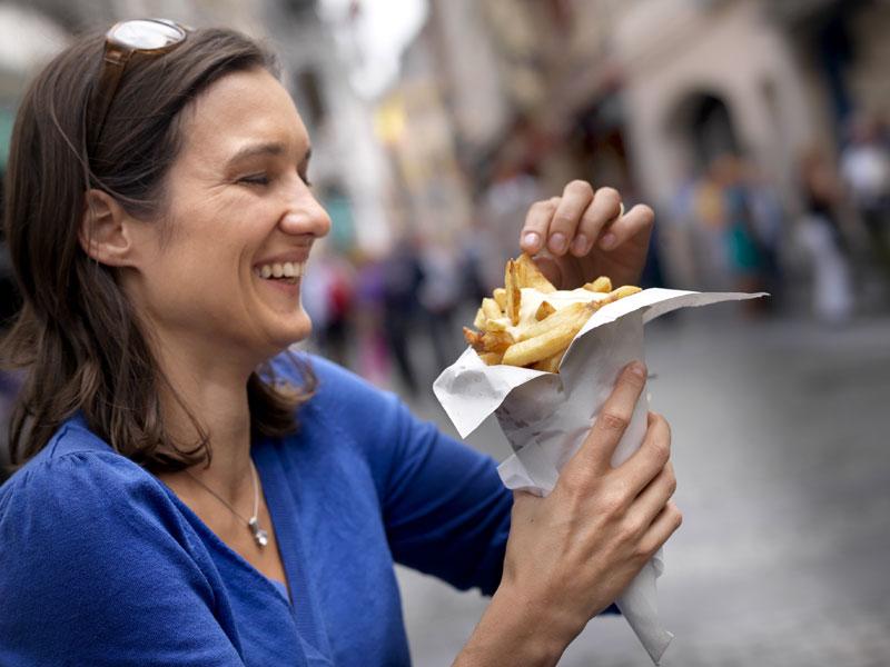 ¡las famosas patatas fritas!