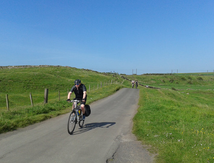 En bici entre Inglaterra y Escocia