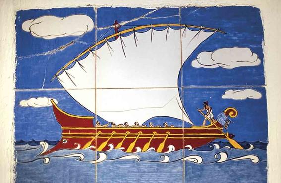 Mural En Vathy, Ithaca